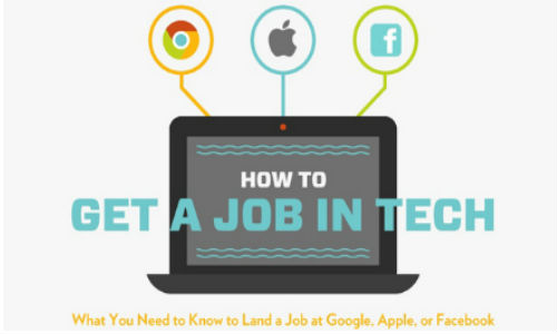 how to get a job at google apple or facebook infographic