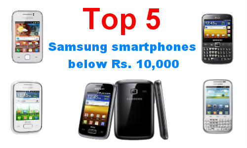 best samsung smartphones below rs 10000