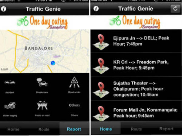 Traffic Genie - Bangalore