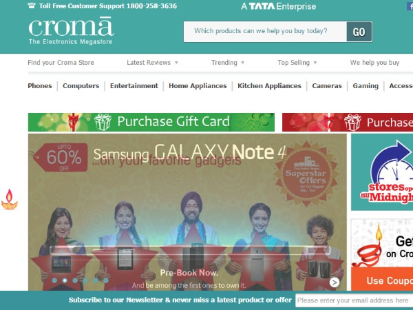 Croma: Discounts, sales and offers to look for this Diwali 2014