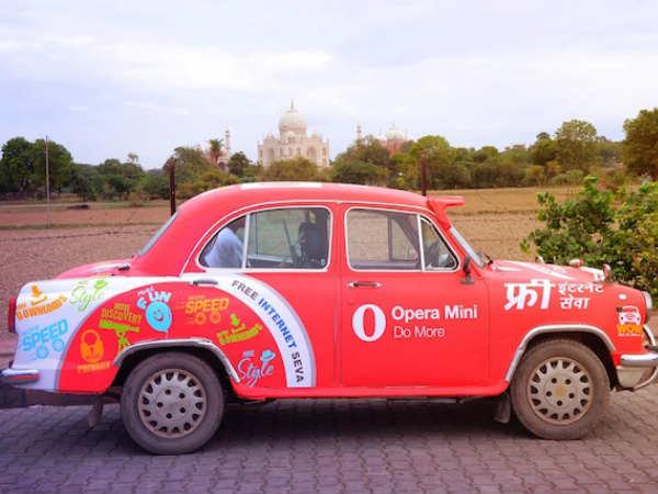 ಭಾರತದಲ್ಲಿ ಸಂಚರಿಸಲಿರುವ ಉಚಿತ ವೈಫೈ ಒಪೇರಾ ಕಾರು