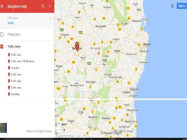 ಬೆಂಗಳೂರಿನ ಟ್ರಾಫಿಕ್ ಸಮಸ್ಯೆಗೆ ಗೂಗಲ್ ನಕ್ಷೆ ನೆರವು