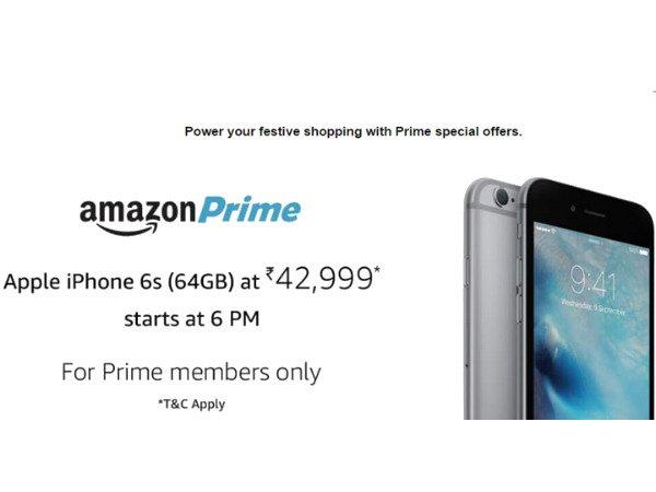 47,999 ರೂ ಬೆಲೆಯ 64GB 'ಐಫೋನ್ 6ಎಸ್' ಅನ್ನು 42,999 ರೂಗೆ ಖರೀದಿಸಿ!