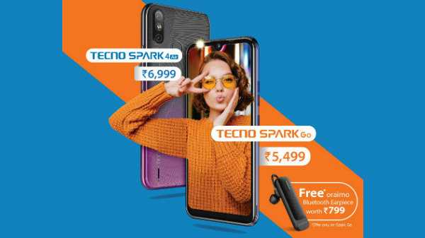 TECNO Spark Go (Free Bluetooth Headset Worth Rs. 799)