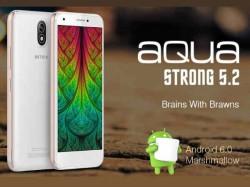 4G VoLTE, 16GB ಸ್ಟೋರೇಜ್ನ 'ಇಂಟೆಕ್ಸ್ ಆಕ್ವಾ ಸ್ಟ್ರಾಂಗ್ 5.2' ಬೆಲೆ ರೂ.6,390 !