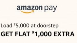 ಅಮೇಜಾನ್ ಪೇ ಬ್ಯಾಲೆನ್ಸ್ ಗೆ 5000 ರುಪಾಯಿ ಸೇರಿಸಿದರೆ 1000 ರುಪಾಯಿ ಕ್ಯಾಷ್ ಬ್ಯಾಕ್ ಲಭ್ಯ